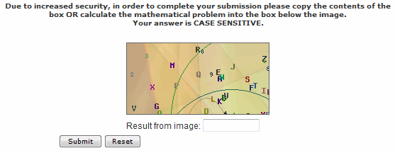 anti-spam captcha